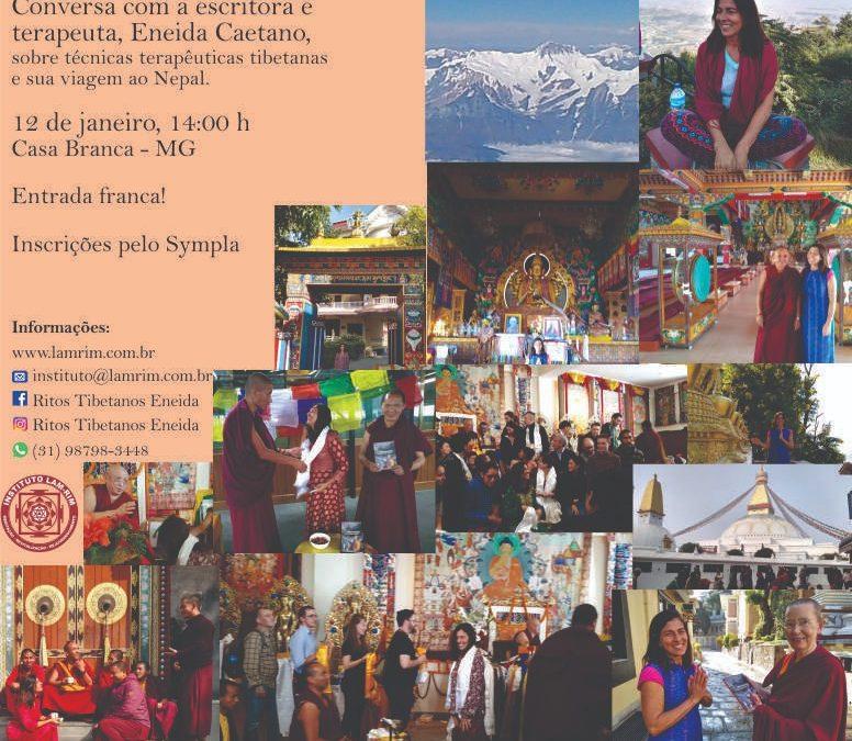 Conversa sobre o Nepal e Técnicas Tibetanas